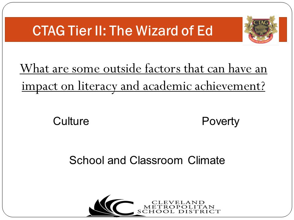 What are some outside factors that can have an impact on literacy and academic achievement.