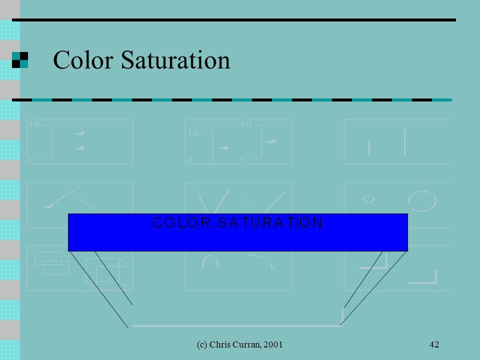 (c) Chris Curran, 200142 Color Saturation