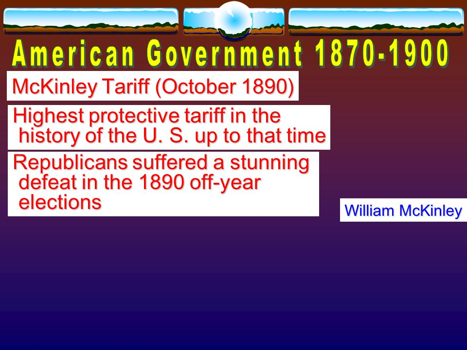 Sherman Anti-Trust Act of 1890 Proposed by John Sherman, Senator from Ohio Senator from Ohio Outlawed trusts as interfering with interfering with free trade free trade Almost impossible to enforce—law to enforce—law was too vague and was too vague and Supreme Court did not support Supreme Court did not support