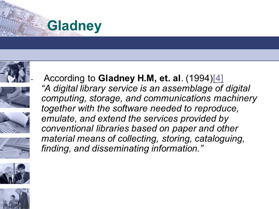 Gladney - According to Gladney H.M, et. al.