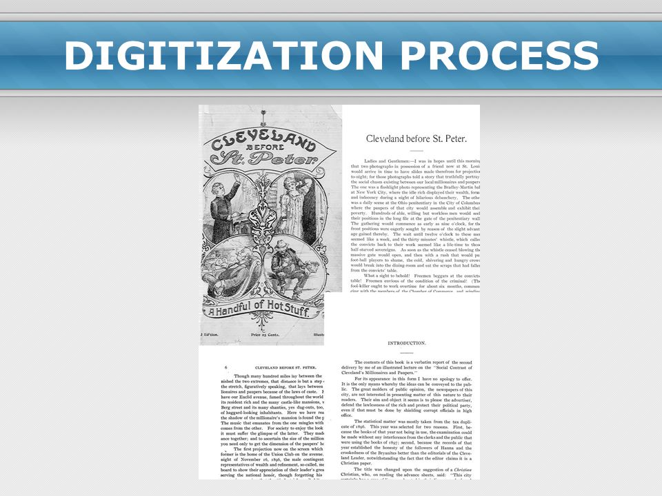 DIGITIZATION PROCESS