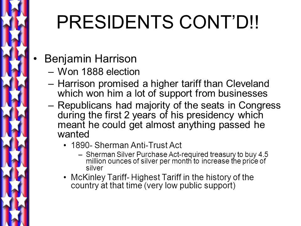 PRESIDENTS CONT'D!.