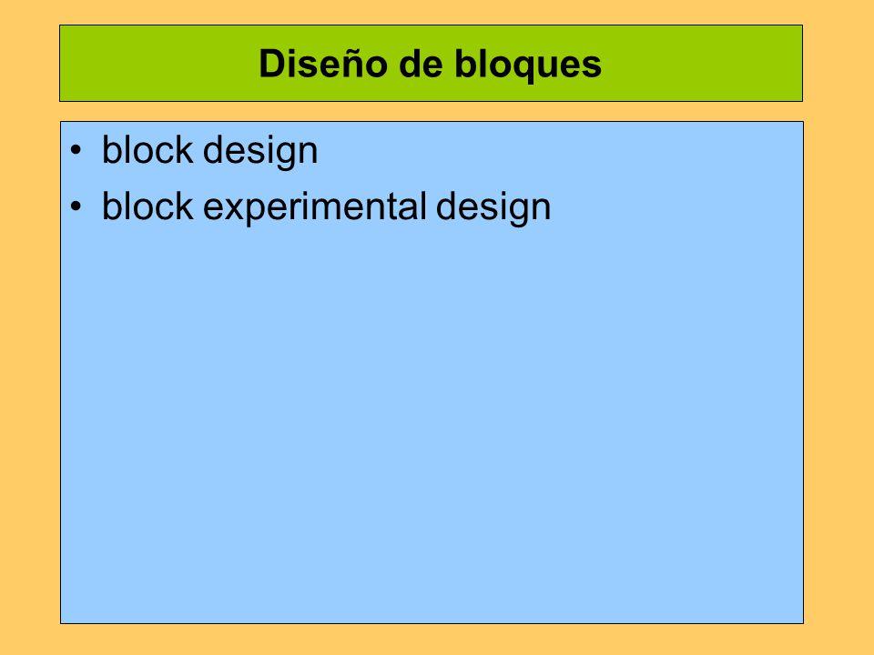 Diseño de bloques block design block experimental design