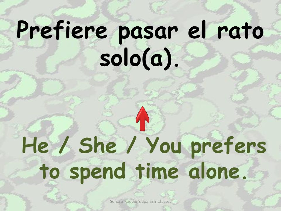 Le gusta(n) mucho… He / She / You like(s)… very much. Señora Kauper's Spanish Classes