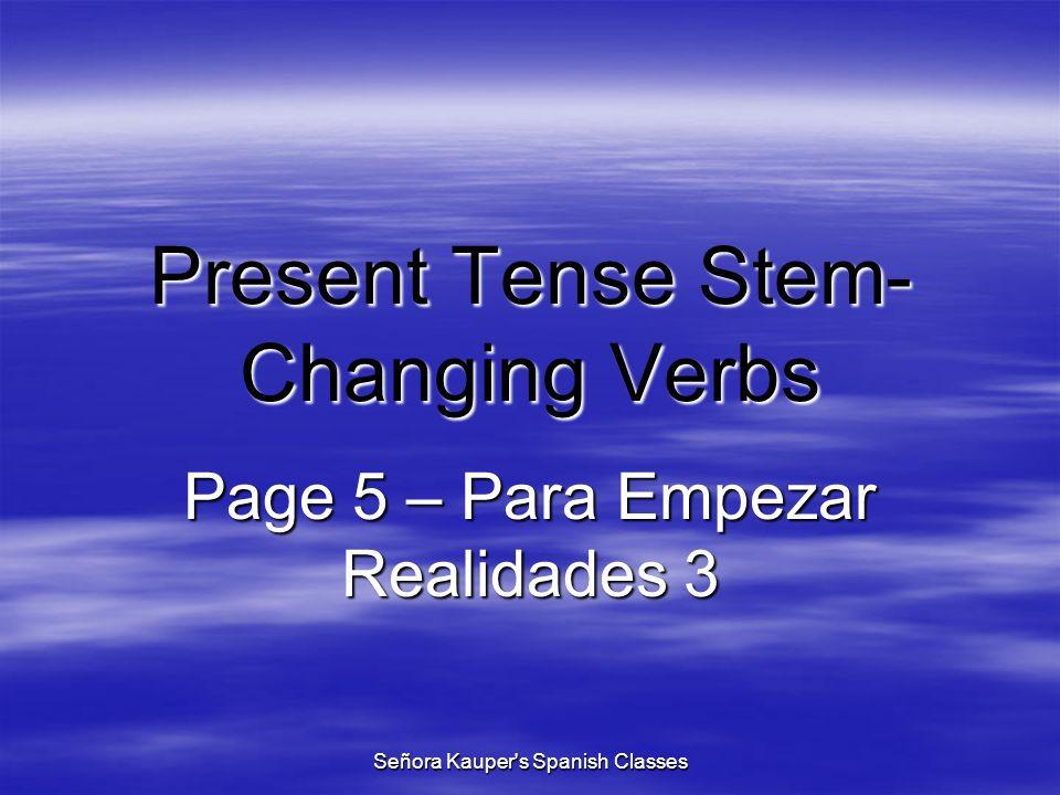to close yo cierro cerrar RIVAS index Señora Kauper s Spanish Classes