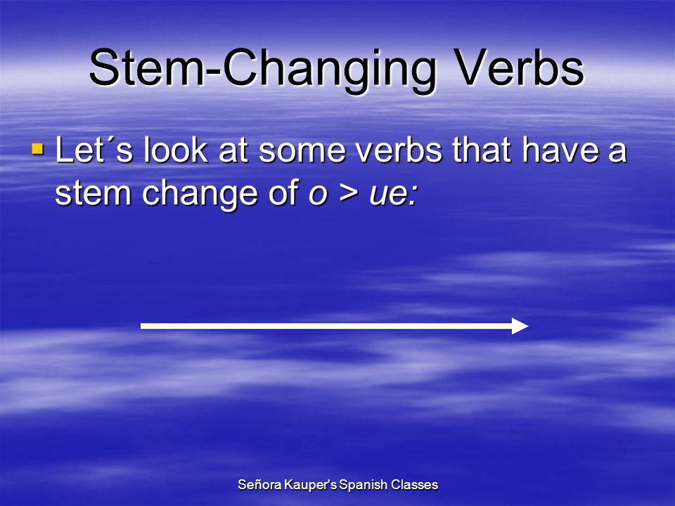 Stem-Changing Verbs (e > ie) empezar querer preferir pensar divertirse despertarse sentirse mentir cerrar comenzar entender to begin to want to prefer