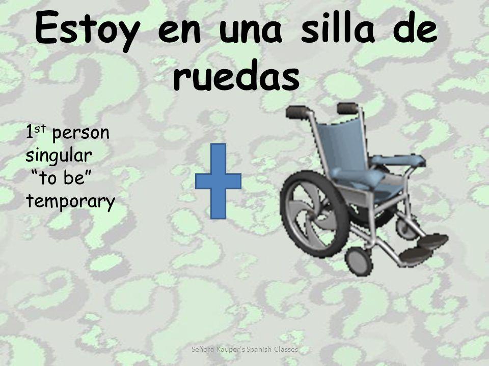 Estoy en una silla de ruedas 1 st person singular to be temporary Señora Kauper s Spanish Classes