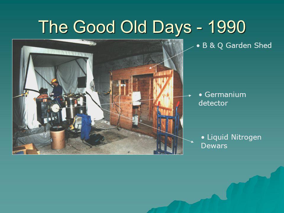 The Good Old Days - 1990 B & Q Garden Shed Germanium detector Liquid Nitrogen Dewars