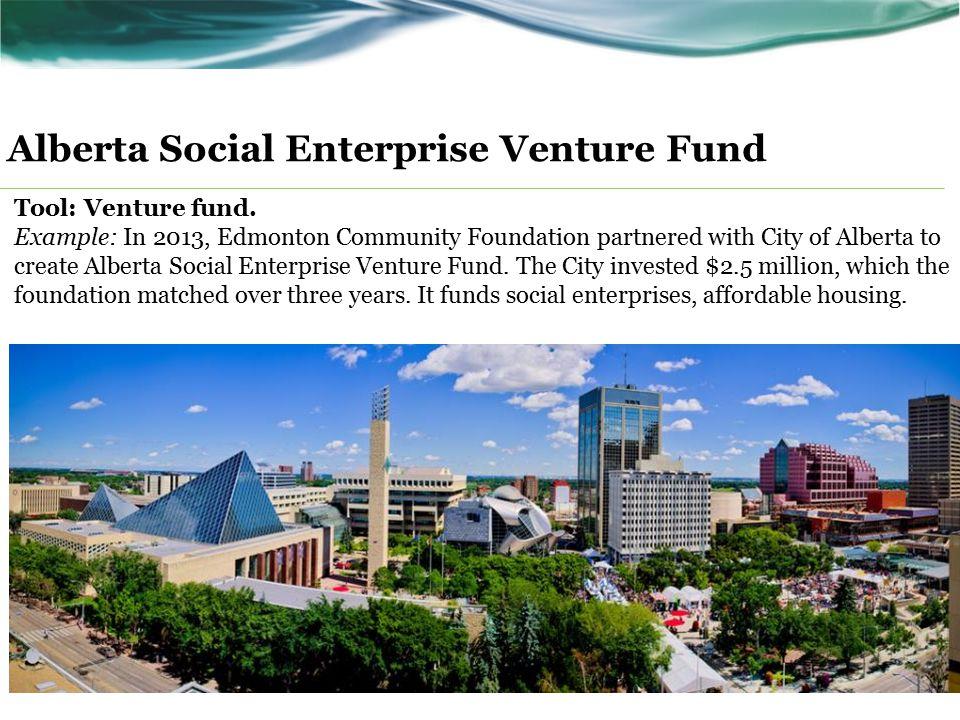 Alberta Social Enterprise Venture Fund Tool: Venture fund.