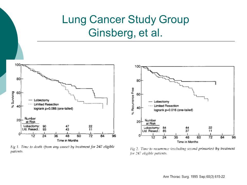 Lung Cancer Study Group Ginsberg, et al. Ann Thorac Surg. 1995 Sep;60(3):615-22