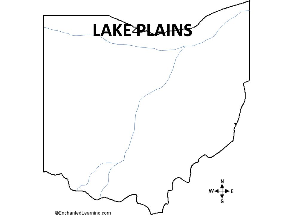 THESE ARE THE FOUR OHIO REGIONS AND SOME INFORMATION ABOUT THEM.
