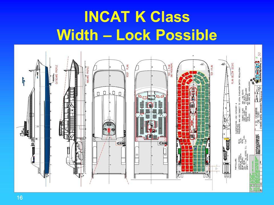 16 MariTrade INCAT K Class Width – Lock Possible