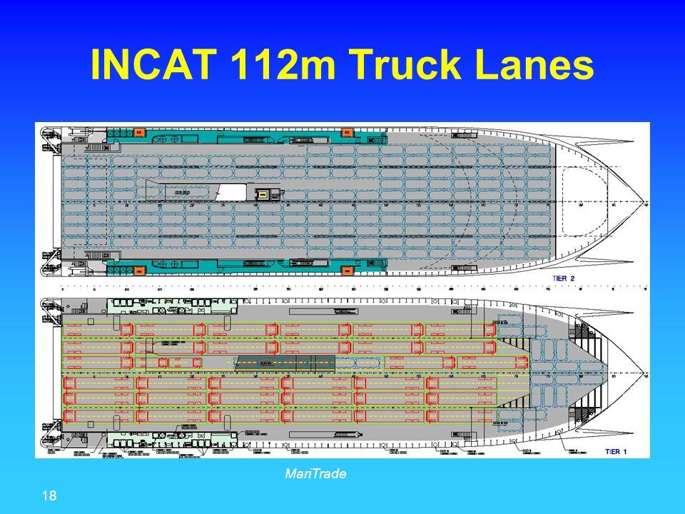 18 MariTrade INCAT 112m Truck Lanes