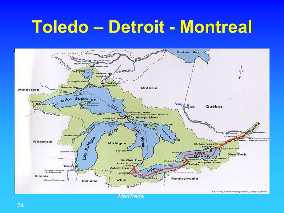 24 MariTrade Toledo – Detroit - Montreal