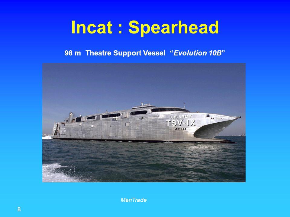 8 MariTrade Incat : Spearhead 98 m Theatre Support Vessel Evolution 10B