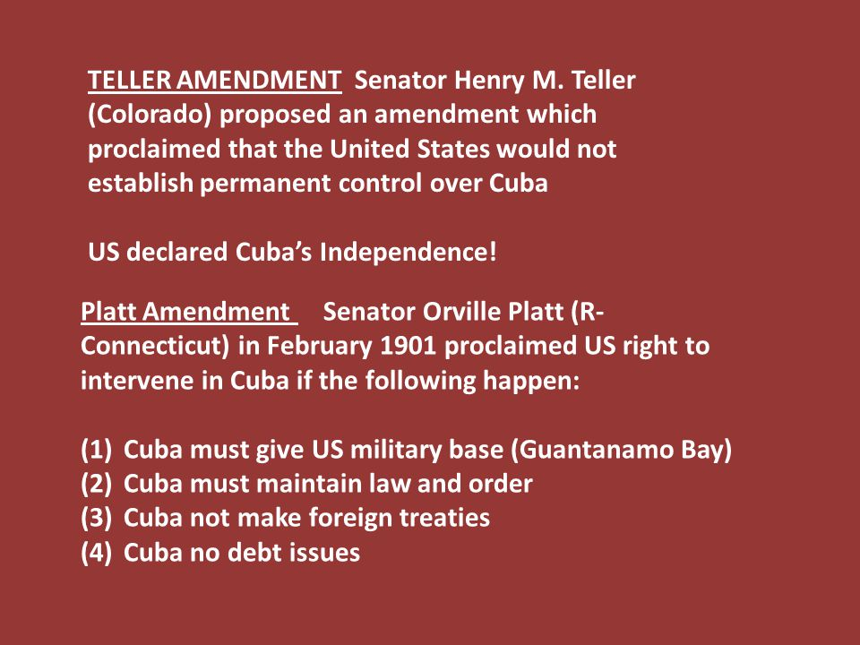 TELLER AMENDMENT Senator Henry M.