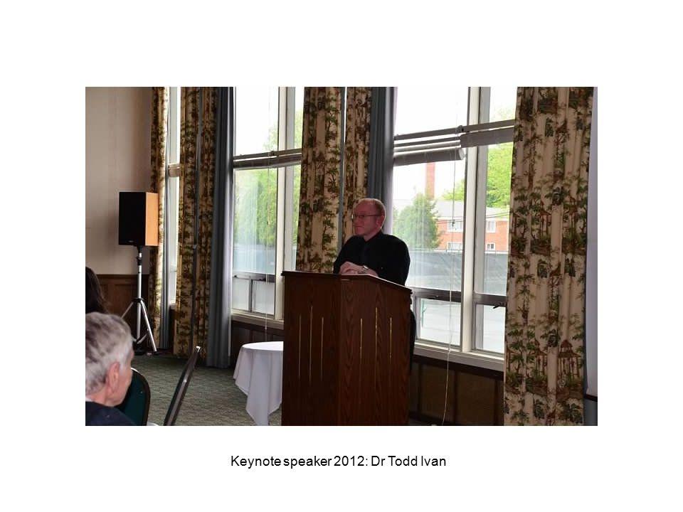 Keynote speaker 2012: Dr Todd Ivan