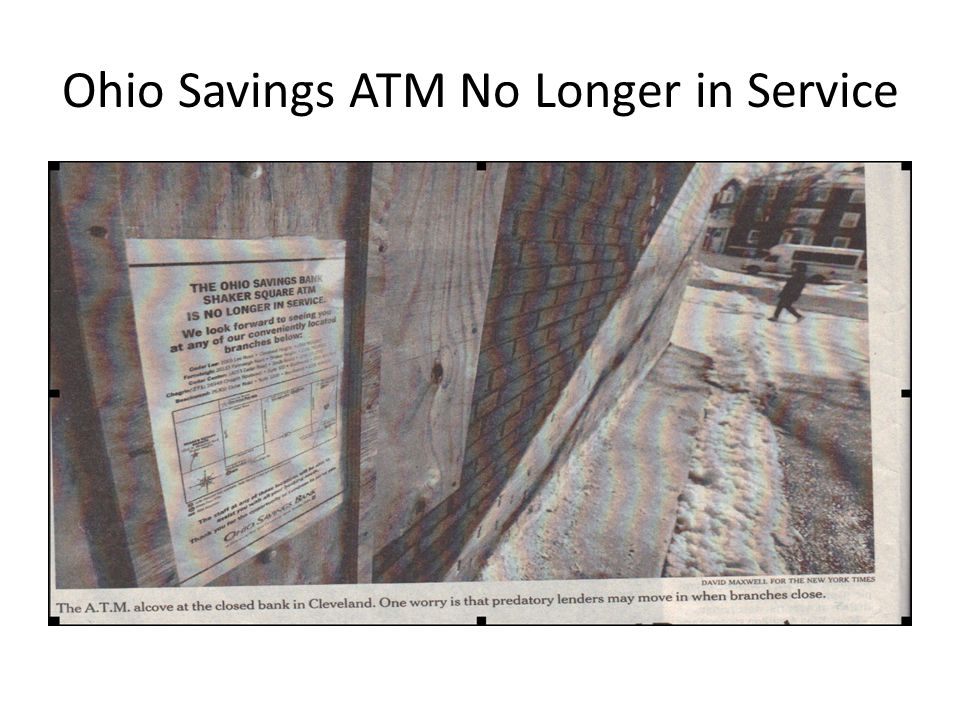 Ohio Savings ATM No Longer in Service