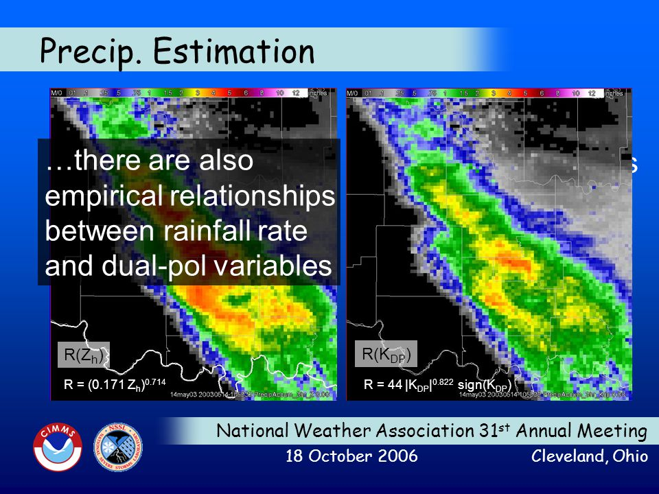 National Weather Association 31 st Annual Meeting 18 October 2006 Cleveland, Ohio Precip.