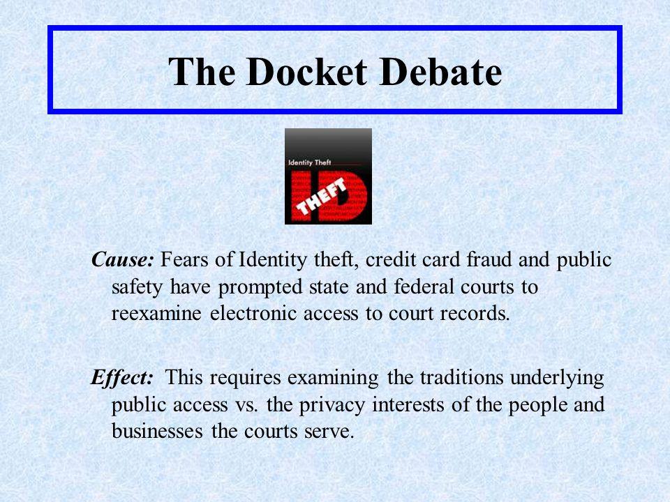 The Docket Debate Schools of Thought Public vs.