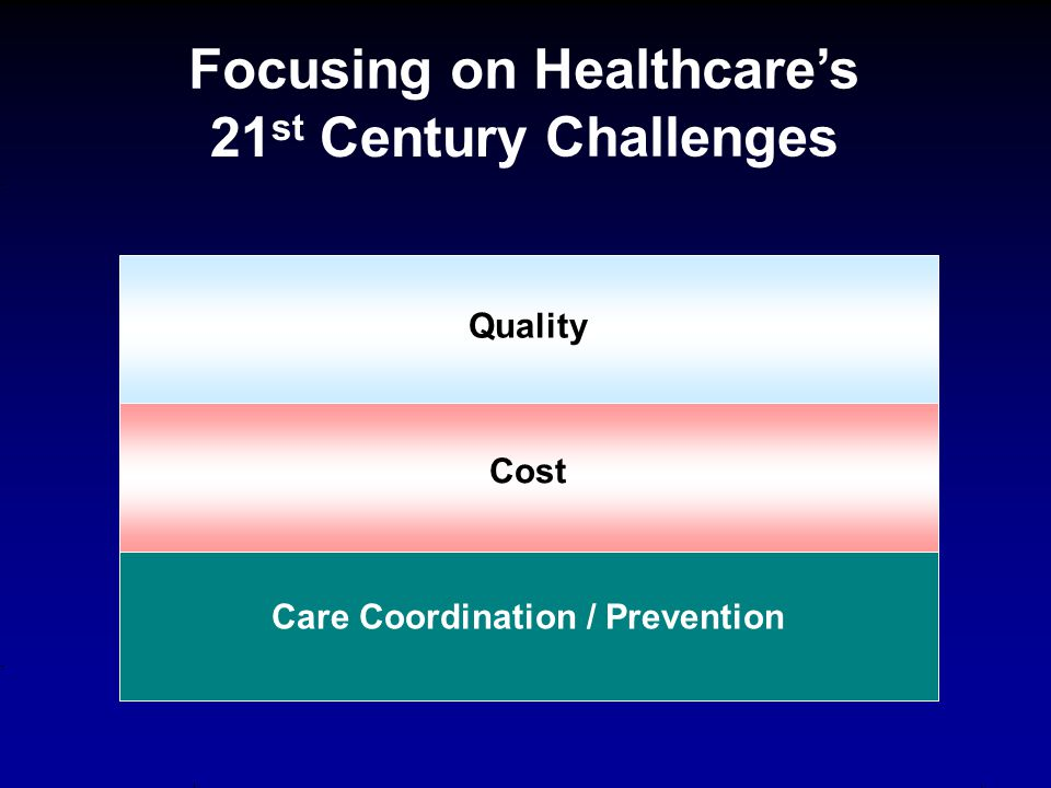 Quality Care Coordination / Prevention Cost Focusing on Healthcare's 21 st Century Challenges