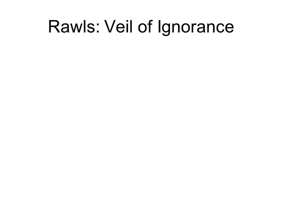 Rawls: Veil of Ignorance