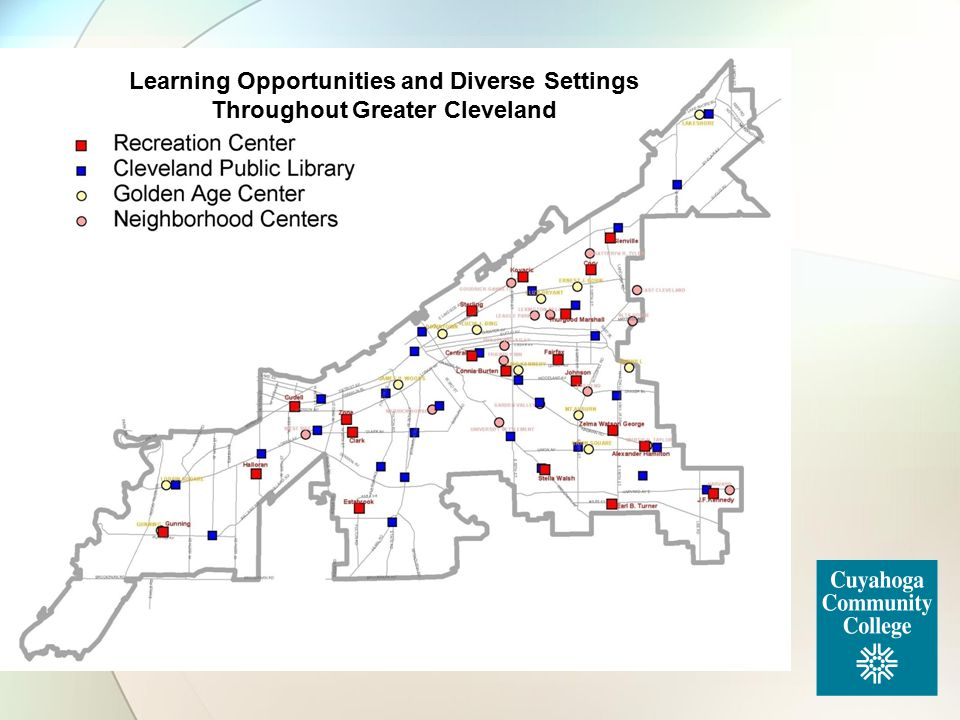 Learning Opportunities and Diverse Settings Throughout Greater Cleveland