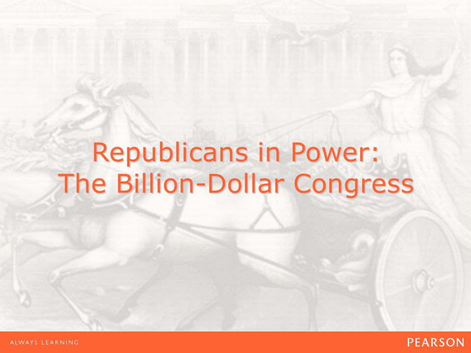 Republicans in Power: The Billion-Dollar Congress