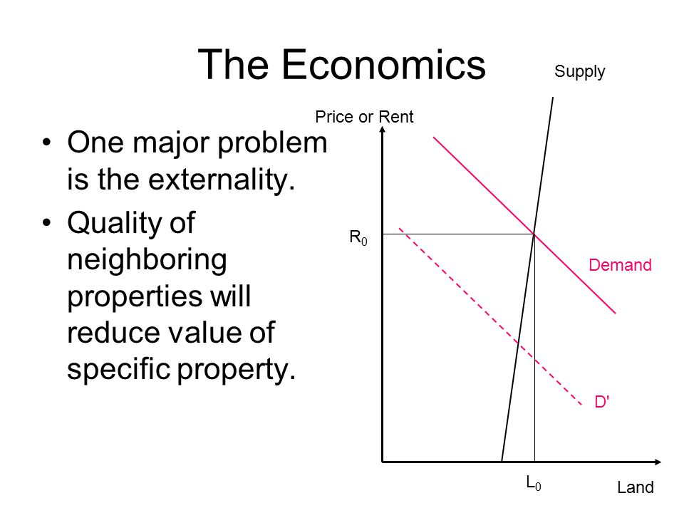 The Economics One major problem is the externality.