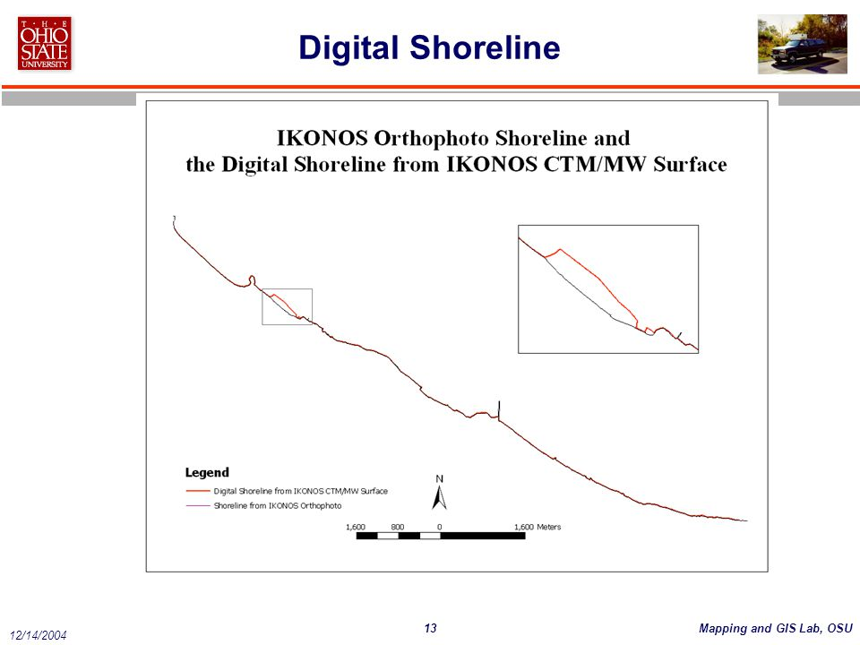 13Mapping and GIS Lab, OSU 12/14/2004 Digital Shoreline