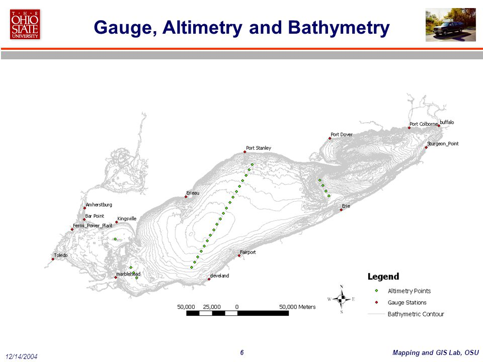 6Mapping and GIS Lab, OSU 12/14/2004 Gauge, Altimetry and Bathymetry