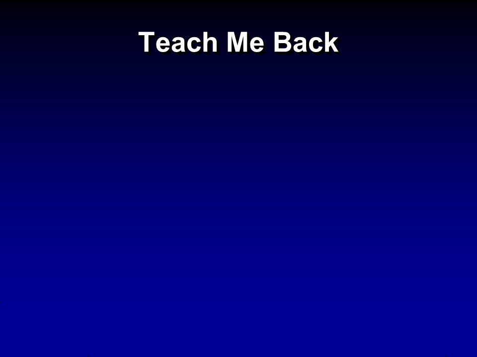 Teach Me Back