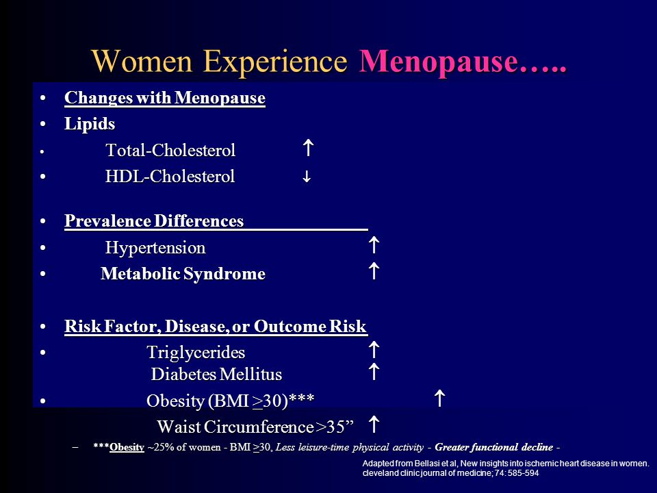 Women Experience Menopause…..