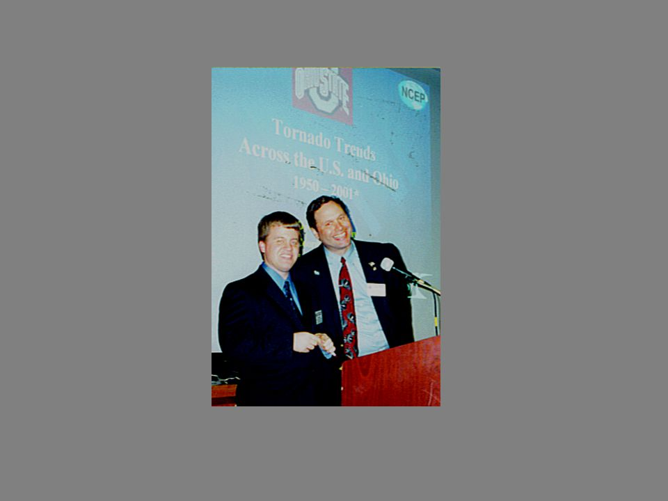 2 nd Annual Severe Weather Symposium April, 1998 Speakers: Keith Bedford, Chair,Dept of Civil Engineering,Ohio State University Suzy Davidson, Greg Tune, Red Cross ------------- Mike Bettes Broadcast Meteorologist WSYX-TV Channel 6 Mike Davis Broadcast Meteorologist WBNS-10TV Ben Gelber Broadcast Meteorologist WCMH-NBC4