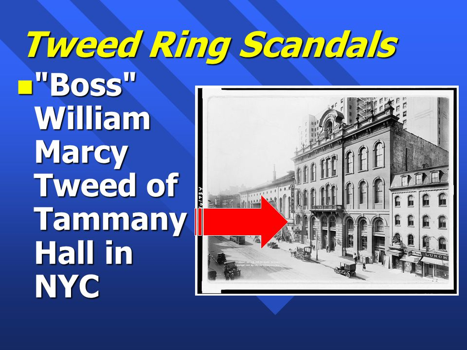 Tweed Ring Scandals n Boss William Marcy Tweed of Tammany Hall in NYC
