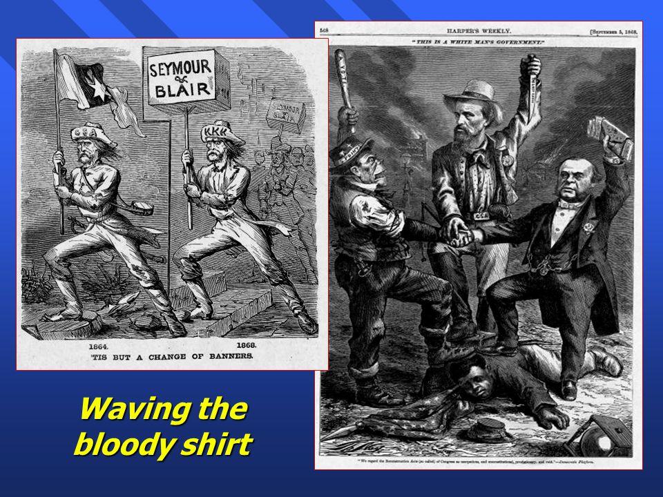 Military Ring Scandal n Secretary of War Belknap involved selling the privilege of disbursing shoddy goods to Indians –Made $24,000 profit