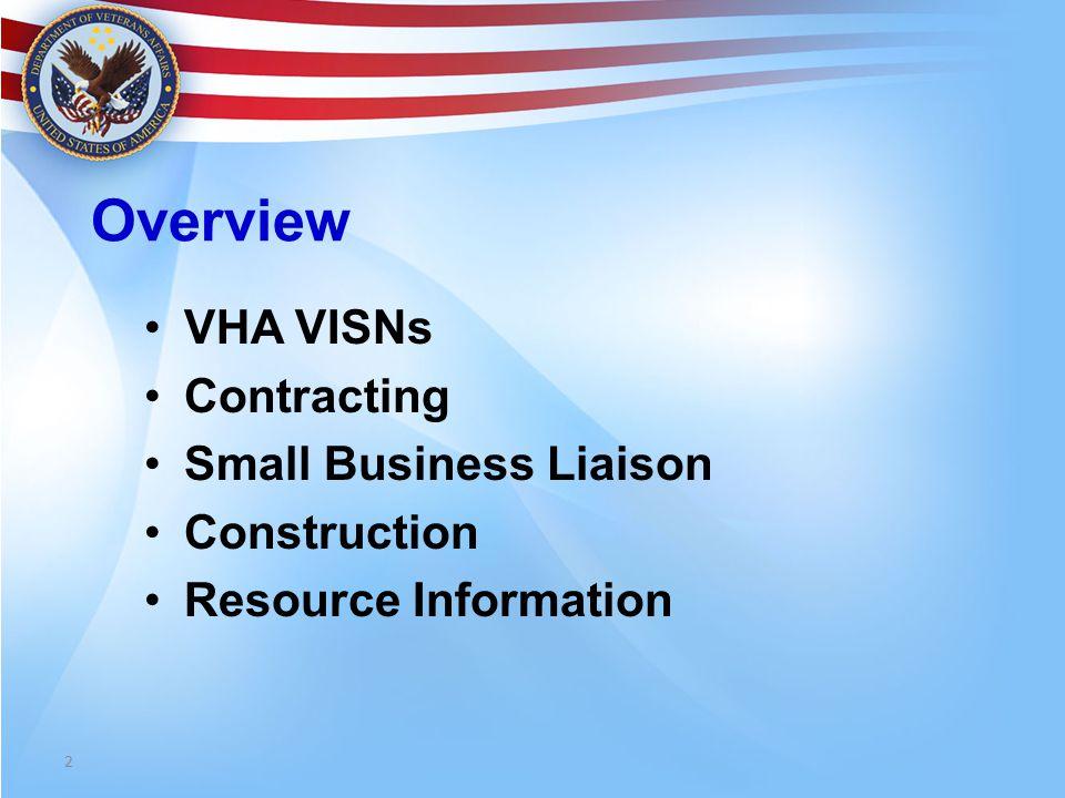 VHA VETERANS INTEGRATED SERVICES NETWORKS (VISN)