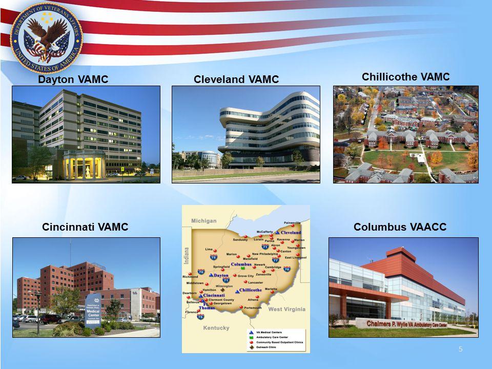 5 Chillicothe VAMC Cincinnati VAMC Dayton VAMC Columbus VAACC Cleveland VAMC