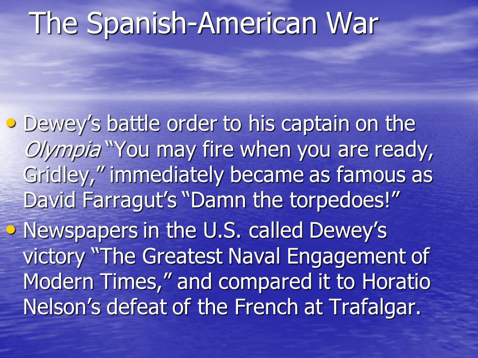 The Spanish-American War The American ships fired off nearly 6,000 shells, Spanish casualties numbered nearly 400, and the Americans captured the crucial naval station at Cavite.