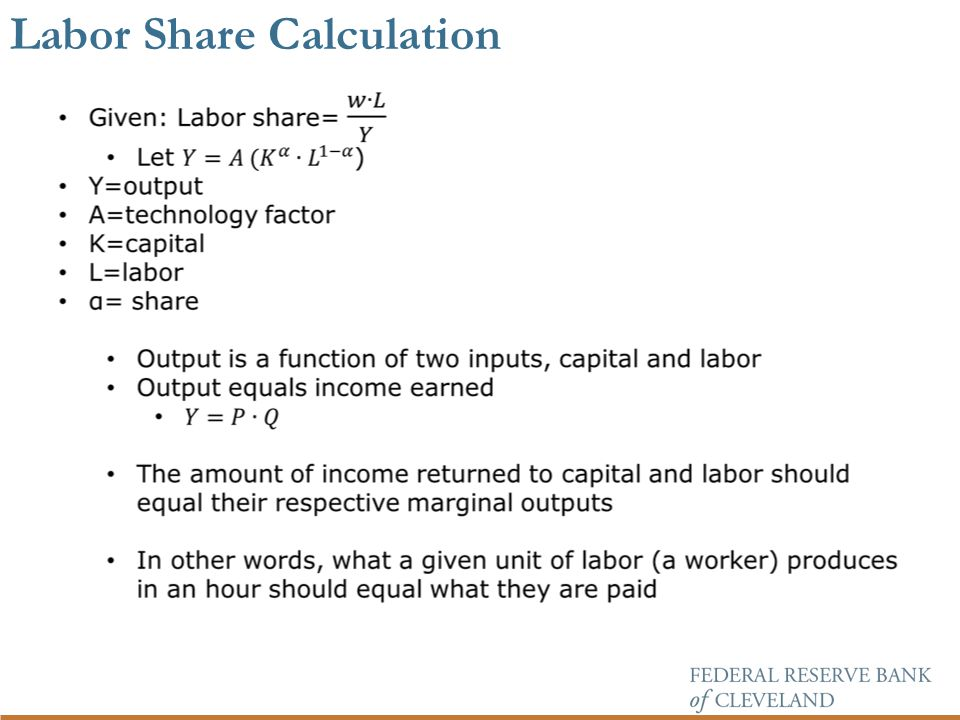 Labor Share Calculation