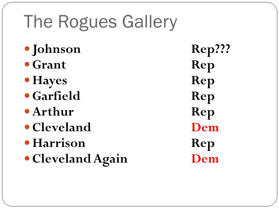 The Rogues Gallery JohnsonRep .