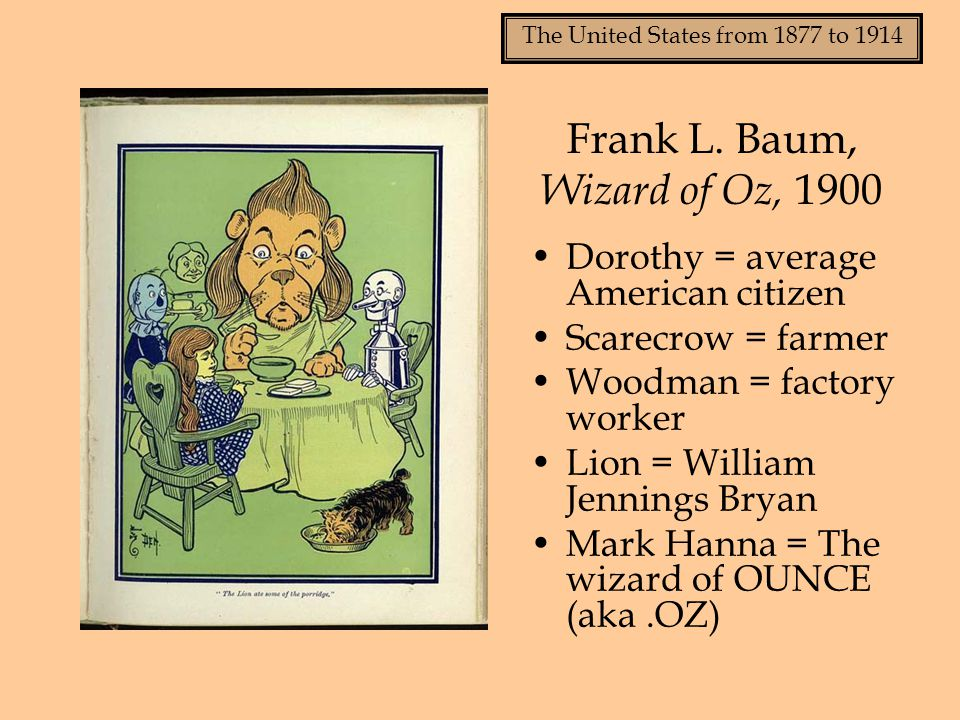 The United States from 1877 to 1914 Frank L.