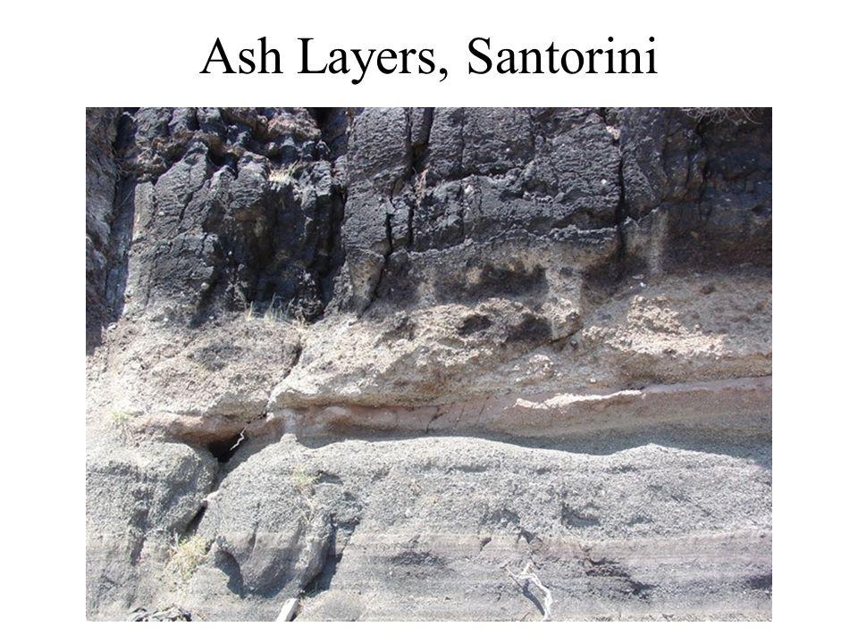 Ash Layers, Santorini