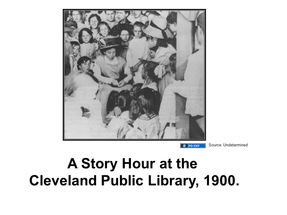 A Story Hour at the Cleveland Public Library, 1900. Source: Undetermined