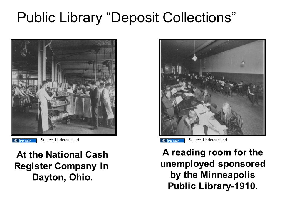 Public Library Deposit Collections At the National Cash Register Company in Dayton, Ohio.