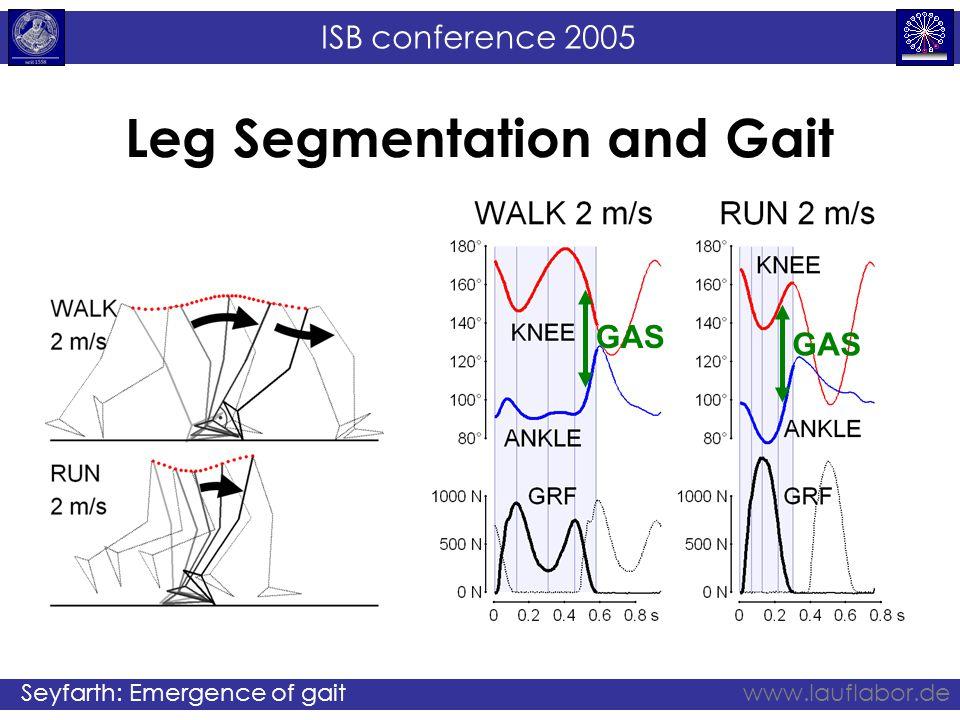 ISB conference 2005 Seyfarth: Emergence of gaitwww.lauflabor.de Leg Segmentation and Gait GAS