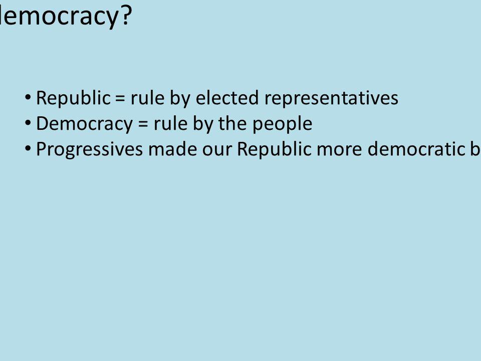 More democracy.