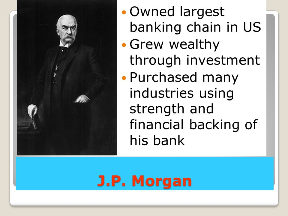 John Rockefeller creates a refinery for oil in Cleveland, OH Standard Oil begins buying out other refineries low prices, customer pressure, RR rebates to destroy competition creates 1st trust has a monopoly on oil in the USA