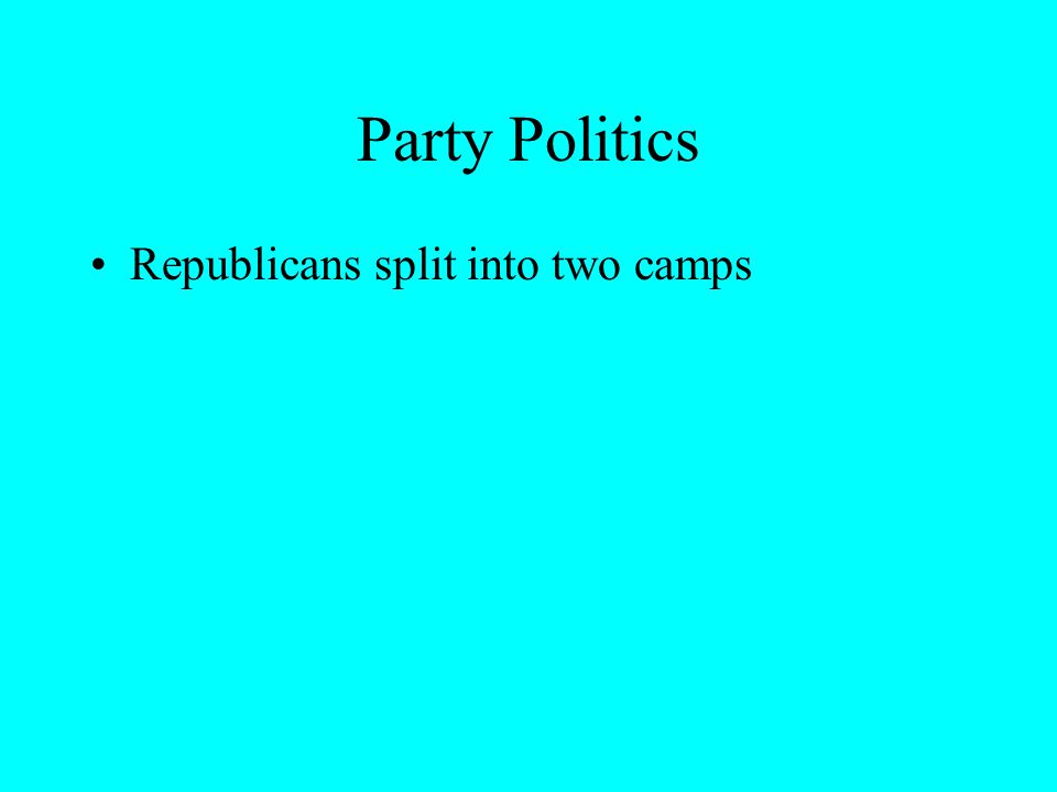 Republicans split into two camps
