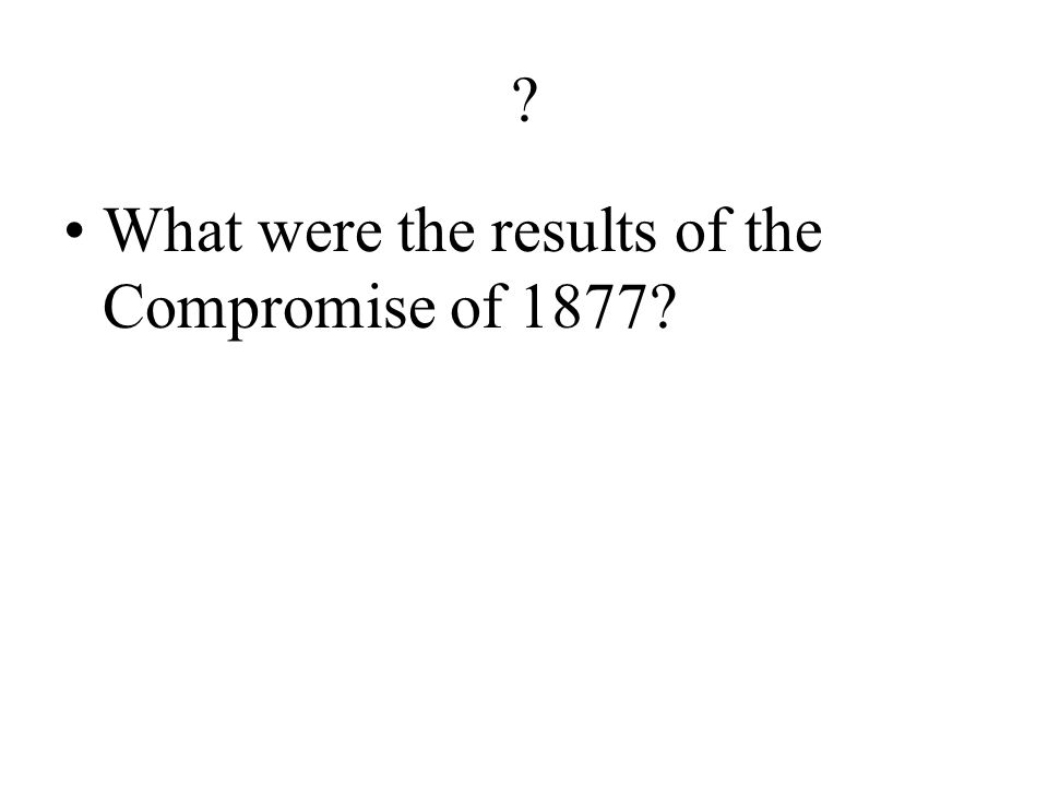 ? What was the major problem in the 1876 presidential election?